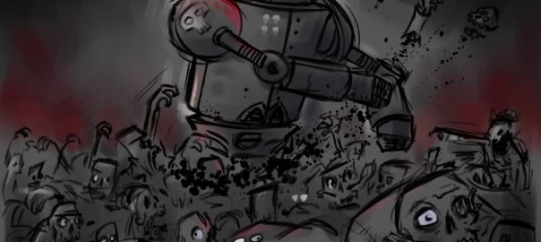 Robot vs zombie